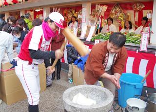 餅つき 布施戎神社